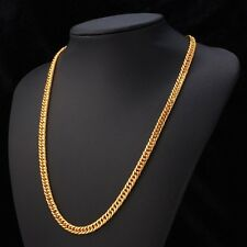Solid 18k Gold Flat Chain