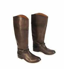 *NEW* $398 Frye Melissa Seam Leather Knee High Pull On boots size 6.5
