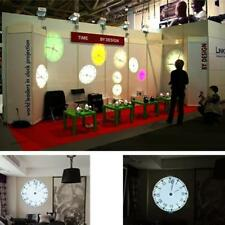 LED Remote Control 5Color Projection Analog Clock 180Degree Rotating UK Plug