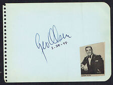George Olsen (d. 1971) signed autograph 4x5 Page Band Leader Ziegfled Follies