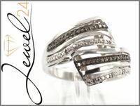 Private Diamonds Damen Ring echt Silber 925 Sterling rhodiniert mit Diamanten