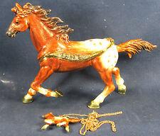 Appaloosa Horse Jeweled Pewter Trinket Box Wildlife with Necklace