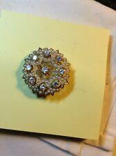 Vintage Stunning 14 Karat Yellow Gold Diamond And Seed Pearl Pin