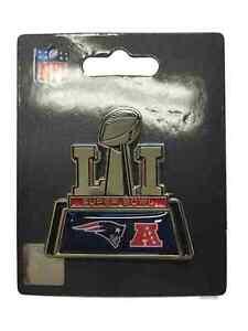New England Patriots 2017 Super Bowl LI 51 Trophy Logo Aminco Metal Lapel Pin