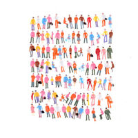 100Pcs Painted Mo Figuren 1:150 Standing Sitting Model Menschen SpielzeugFBB