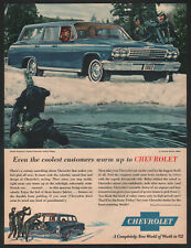1962 Canadian Chevrolet print ad blue Impala Station wagon