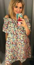 H&M OFF THE SHOULDER SPRING SUMMER FLORAL BARDOT DRESS SMALL UK SIZE 10 12