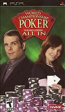 World Championship Poker All In Sony Playstation PSP Video Game Complete