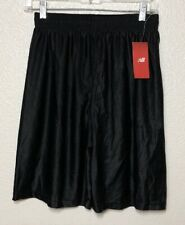 "New Balance Youth Athletic 9.5"" Inseam Black Dazzle Shorts L (14/16) Nwt"