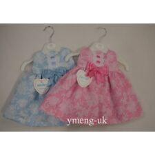 *SALE* Stunning Baby Girls Spanish Pink Swirl Ribbon Slot Pinafore Dress/Romany