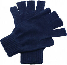 Regatta Thermal Fingerless Gloves Navy Blue Knitted Ribbed Cuff Winter Mitts