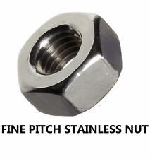 Qty 10 Stainless Steel M10 (10mm) x 1.25mm Pitch Metric Fine Hex Nut 304 Grade