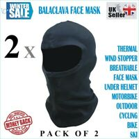 2 x Balaclava Motorcycle Motorbike Cycling Face Masks Facemask Tube Under Helmet