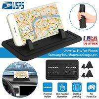 Sticky Silicone Pad Dashboard Mount Holder Cradle for Cell Phone GPS BLACK