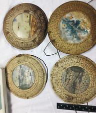 4 Antique Vintage Flue Cover, Stove Pipe Vent Rustic primitive showing age