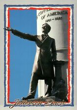 Confederate Statue Jefferson Davis Monument Avenue, Richmond Virginia - Postcard