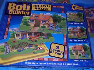 Bob The Builder 3 Twelve Piece Puzzles  Ages 3 - 7   Pre - Owned