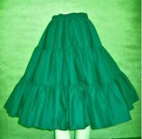Plus Size Skirt XXL Square Dance 3 Tier Dark Aqua MALCO MODES 120 Poly Cotton