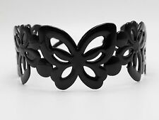 4 Black Plastic Butterfly Wide Alice Hair Band Headband 50mm Hair Accessories