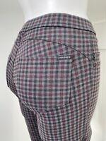 Sanctuary Gray Black Red Plaid Skinny Legging Pants Women's Size Small