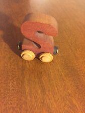 "Wooden ""s"" Letter Magnet Train Piece"