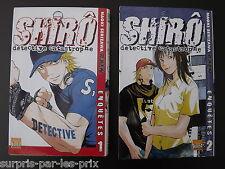 LOT DE 2 MANGAS SHIRO Detective Catastrophe Tome 1 et 2  Edition Française