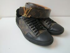 Louis Vuitton Slalom Shoes Men Sz 8.5 Belt Monogram 85/34 Excellent Cond Genuine