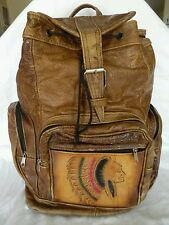 197c0ea4b927 VTG Genuine Leathers Brown Leather Indian Chief Backpack