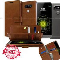 Goospery Double Fold Dual Flip Leather Book wallet Case cover for LG V50 V30 V40