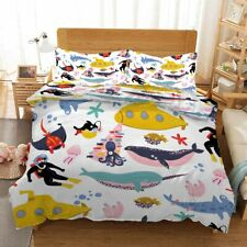Pink Belly Whale 3D Printing Duvet Quilt Doona Covers Pillow Case Bedding Sets