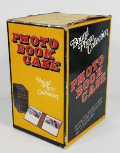 NIP Vintage Photo Book Case decorative 4-piece 5x7 storage album set with box
