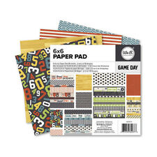 GAME DAY 6x6 Paper Pad We R Memory Keepers American Crafts 36 Sheet Sports