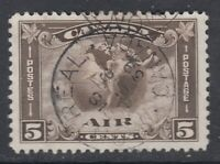 "Canada CDS Cancel Scott #C2 5 cent brown olive ""Air Mail""   F"