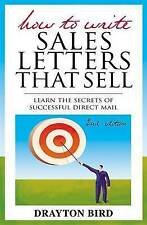 How to Write Sales Letters that Sell, Good Condition Book, Bird, Drayton, ISBN 9