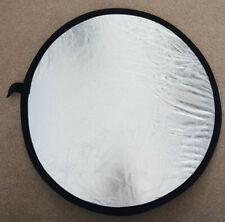 Circular portable foldable light reflector (60cm) with case