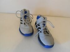 Men's Adidas Sneakers High Tops Gray Blk. & Blue Size 8 Medium
