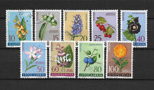 YOUGOSLAVIE - 1960 YT 843 a 851 FLEURS - TIMBRES OBL. / USED - COTE 8,00 €