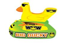 WOW Watersports Big Ducky 1-3 Rider Inflatable Deck Tube Boat Towable 18-1140