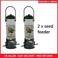 2 x DELUXE WILD BIRD SEED FEEDER - Garden Hanging seed nut peanut feeders