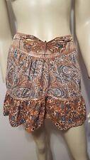 Jill Stuart Hippie Boho Butterfly Embroidered Skirt Sz 1 Paisley Satin Ribbon