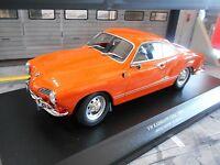 VW VOLKSWAGEN Karmann Ghia Coupe 1970 orange Typ 14 Metall NEU Minichamps 1:18