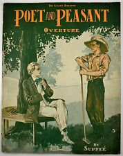 Poet And Peasant Overture By Suppee Art work 1900's Sheet Music