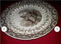 Antiqies porcelain Plate Goodwins & Harris  Byron Rare  Collection 1830 year gif