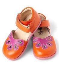 LIVIE & LUCA Sunrise Petal Shoes 12 Matilda Jane Leather Sunset Orange Girls NEW