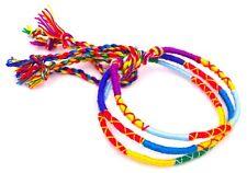 Lot 3 Bracelets Brésiliens de l'Amitié Macramé coton Porte Bonheur multi couleur