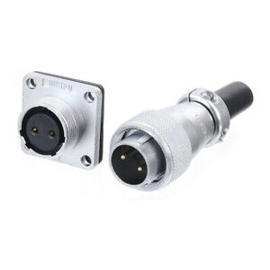 WS16 2 3 4 5 7 9 10 Pin M16 Industrial Waterproof Aviation Connector Male Female