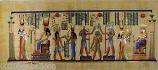 "Horus Anubis Ramses Isis & Maat Original Hand Painted Papyrus 32""X12""(80x30 Cm)"