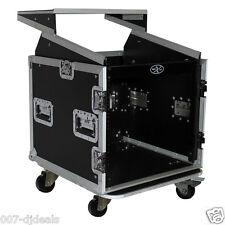 ProX 10 Space 10 Slanted 10U 10U Mixer DJ Combo Rack Laptop Flight Case T-10MRLT