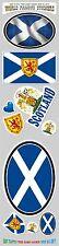 Scotland 10 stickers set flag Scottish decal bumper stiker car auto bike laptop