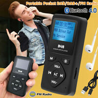Mini Pocket DAB/DAB+ Digital FM Radio mit Bluetooth MP3 Player Headphone Tragbar